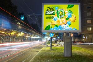 écran géant publicitaire